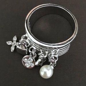 Jewelry - Quatrefoil & Star CZ, Pearl, Lock & Key Charm Ring